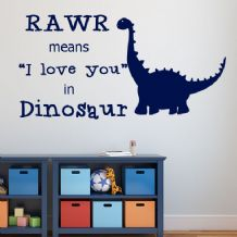 Rawr Means I love You in Dinosaur ~ Wall sticker / decals